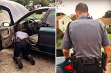 Cảnh sát Mỹ không phạt mà sửa xe cho người vi phạm