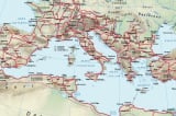 """Bản đồ các con đường """"cao tốc"""" của La Mã và Hán"""