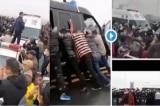 Cảnh sát Giang Tây và Hồ Bắc xung đột, người dân đập phá xe cảnh sát