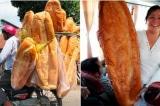 Thú vị bánh mì dài 1m, nặng 3 kg ở An Giang