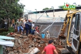 Đắk Nông: Bờ kè của trụ sở Phòng CSGT đổ sập, một công nhân tử vong