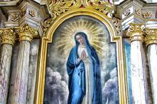 Bức chân dung Đức Mẹ Maria bằng phấn màu bỗng tái xuất sau 13 năm