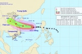 Bão số 13 sẽ ảnh hưởng từ Quảng Ngãi đến Hà Tĩnh, gây mưa lớn