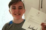 Cậu bé 12 tuổi nhận được Huân chương Tự do của Tổng thống
